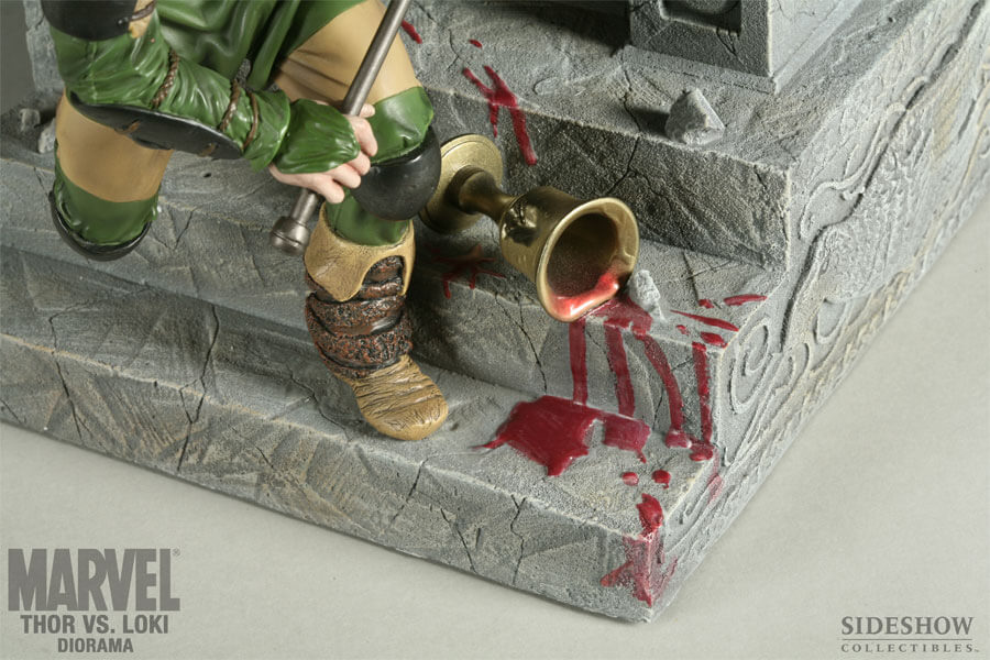 Thor Vs Loki Polystone Diorama By Sideshow Collectibles Pow The
