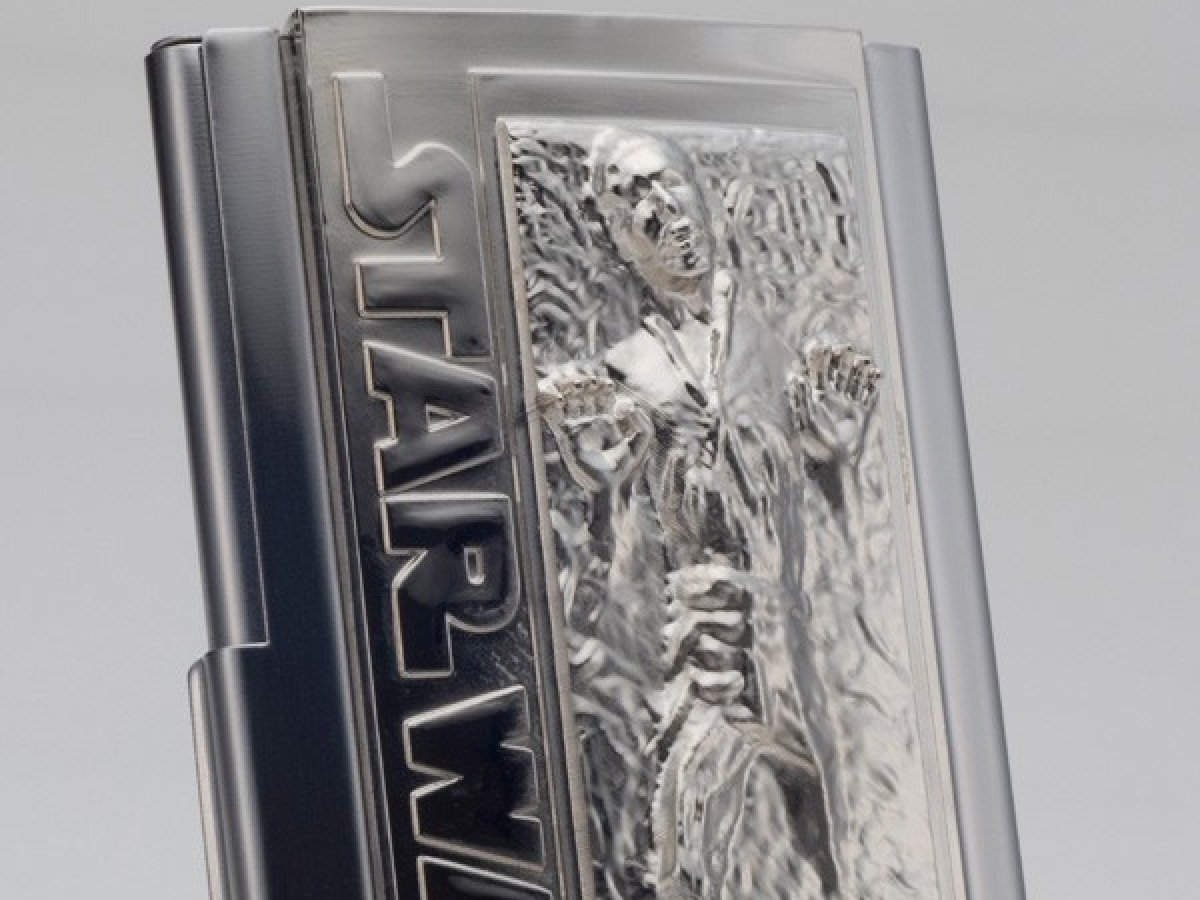 Han Solo In Carbonite Metal Business Card Holder - POW! The Hero In You